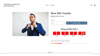 Autoketing - discount on product detail on desktop
