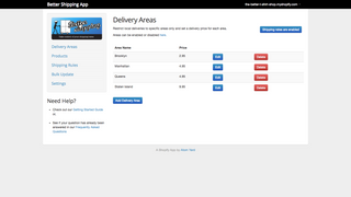 Better Shipping Delivery Areas Restrict Shipping by Zip Code and