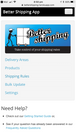 Better Shipping Mobile Menu Page