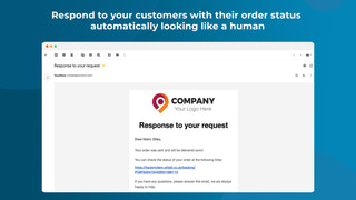 Respond to your customers with their order status  automatically