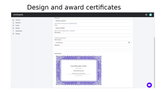 Design and award certificates