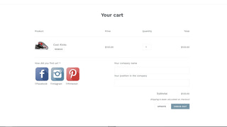 Customer attribute on cart page