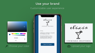 Customize ID verification check branding colors and logo