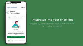 Integrates in your checkout experience. No coding required.