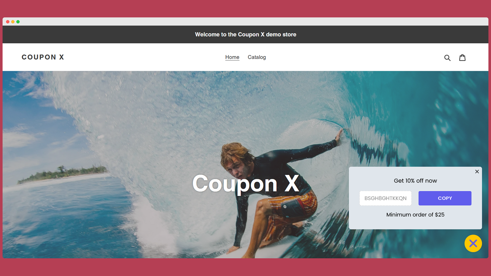 Show beautiful coupon code pop ups on your store
