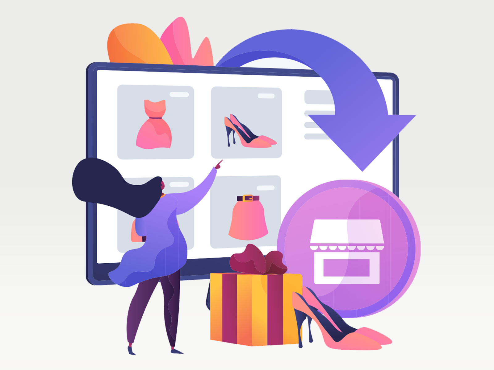 Customers easily buy products