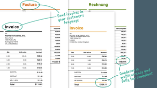 Issue tax receipts in any language or currency