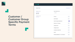 Customer Group Pricing Payment Terms Automation Wholsale
