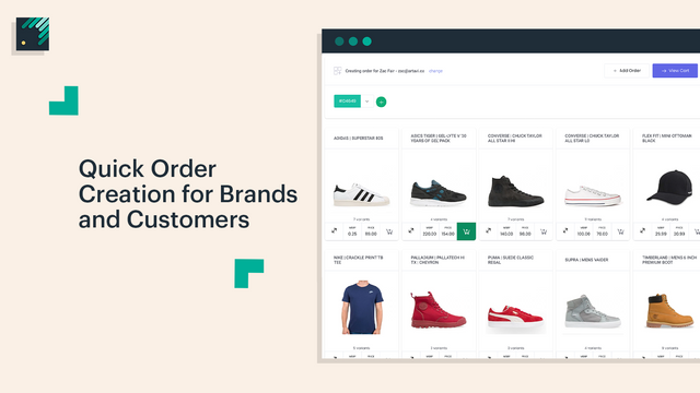 Quick Order Creation Catalogue For Placing Wholesale Orders