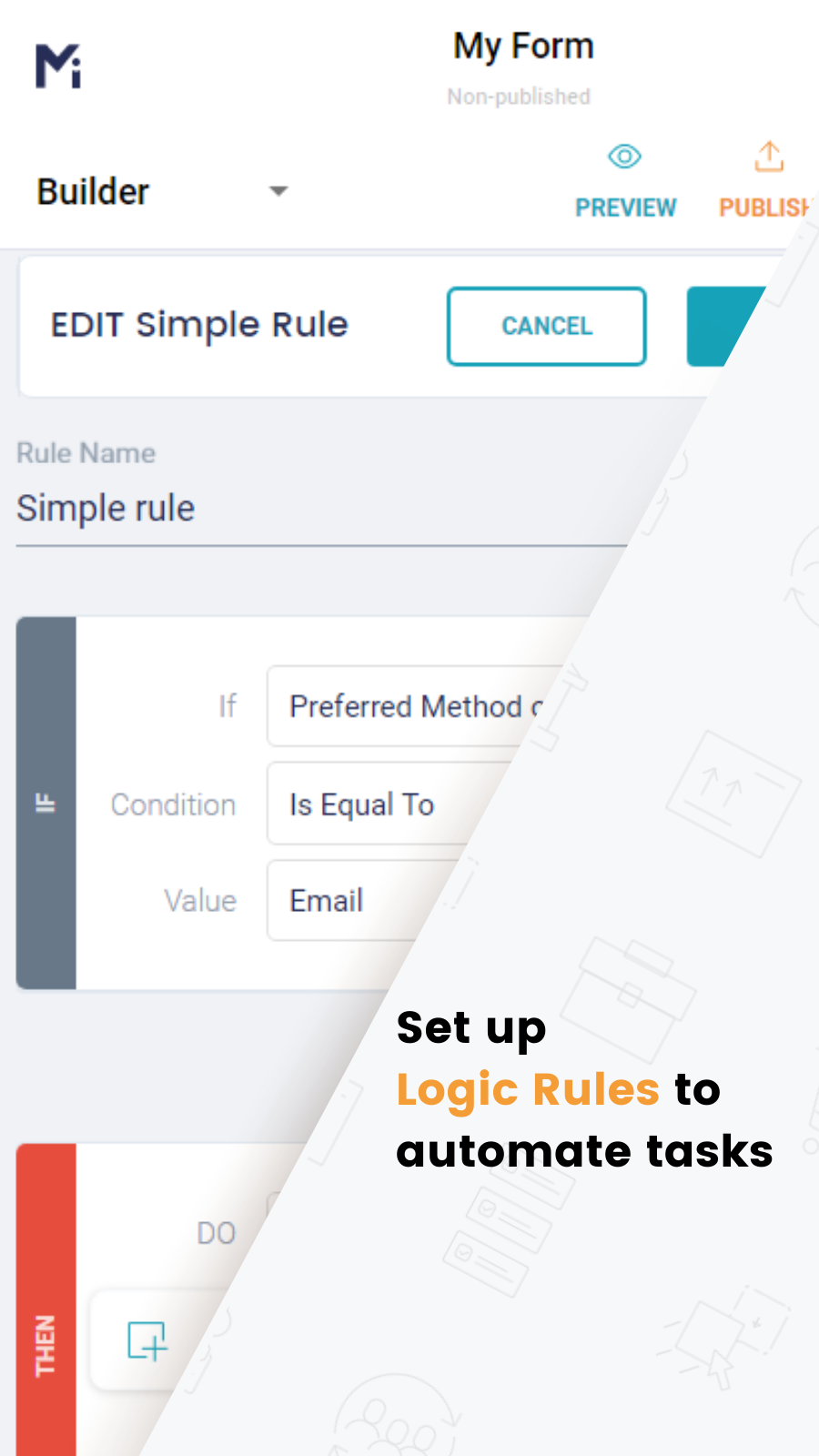 Set up Logic Rules to Skip/Show/Hide/Update form fields
