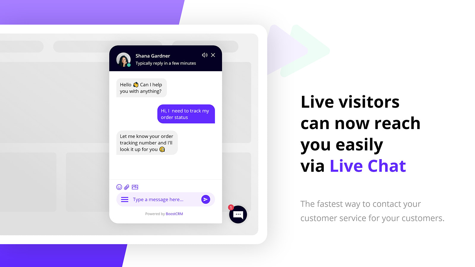 Live visitors can now reach you easily via live chat