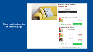 Show multiple bundles on product page