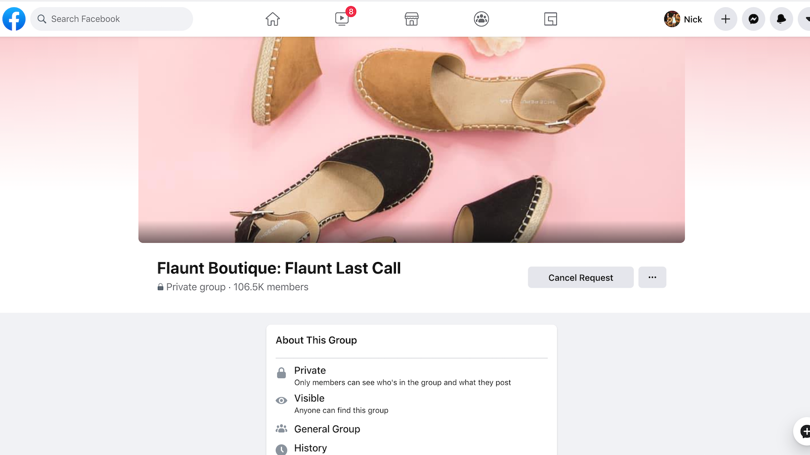 Example of a thriving ecommerce store Facebook group community.