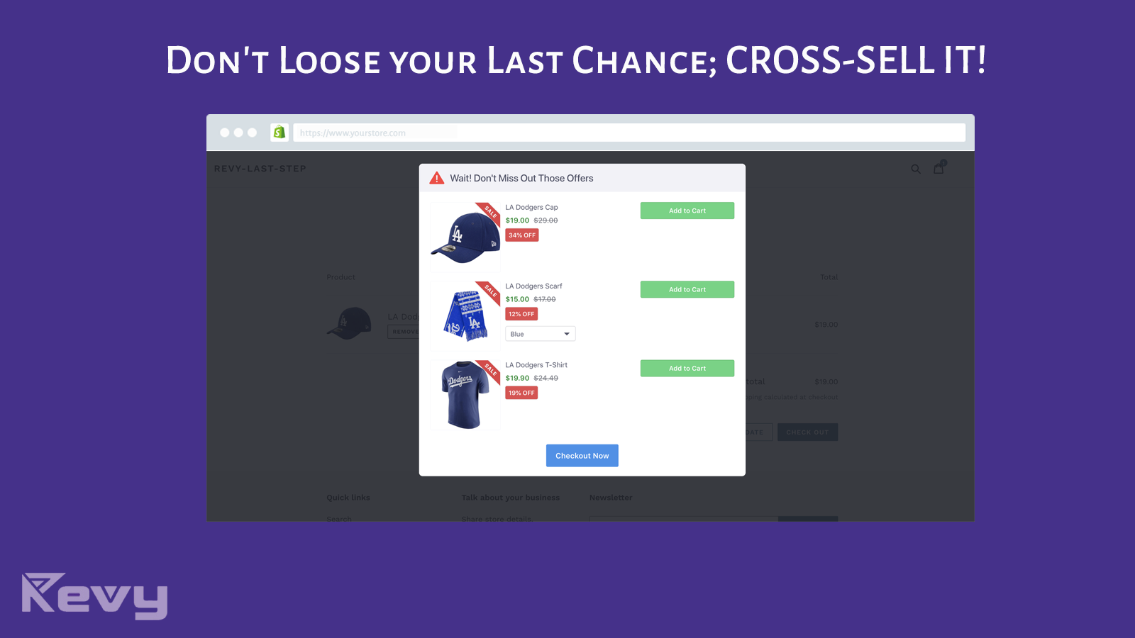 Cross sell at checkout to increase sales at the right time