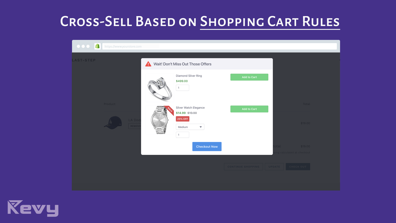 Cross sell based on cart rules: cart products or cart value