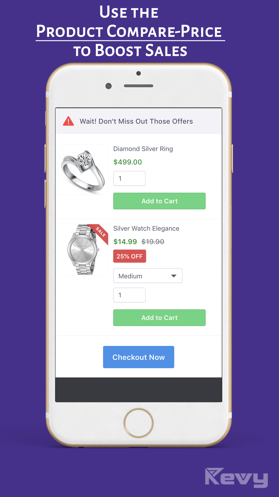 Use the compare-price of the products as discounts to sell more