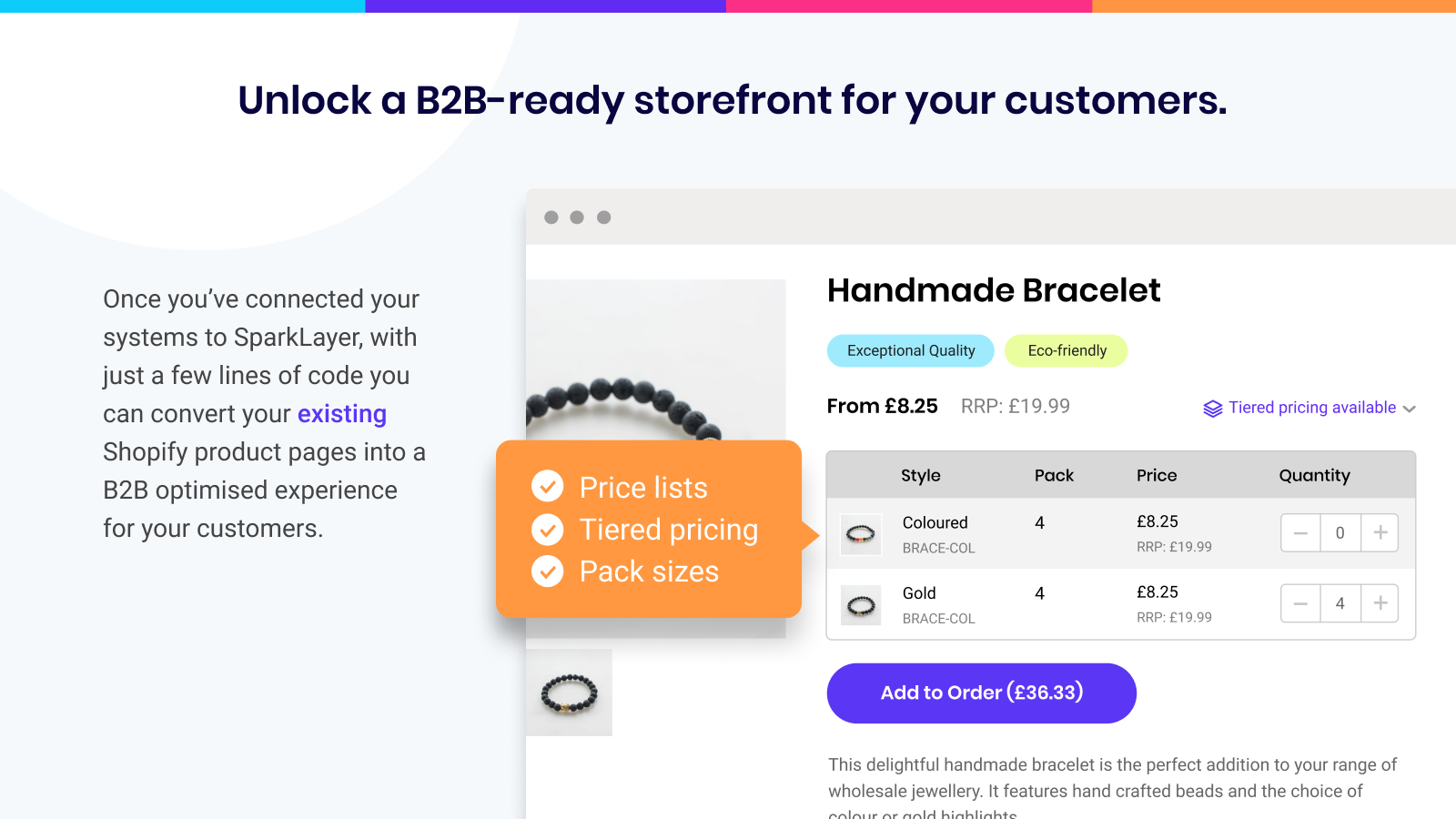 Unlock a B2B-ready storefront for your customers
