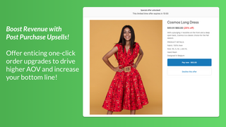 Boost Revenue with Post Purchase Upsells!