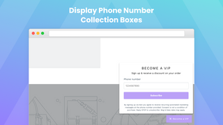 Display collection boxes on website
