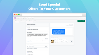 Send special offers to your customers