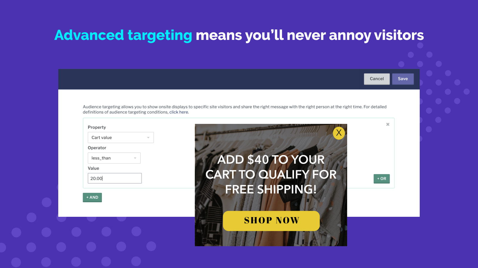 Advanced Triggers and Email Pop Up Targeting