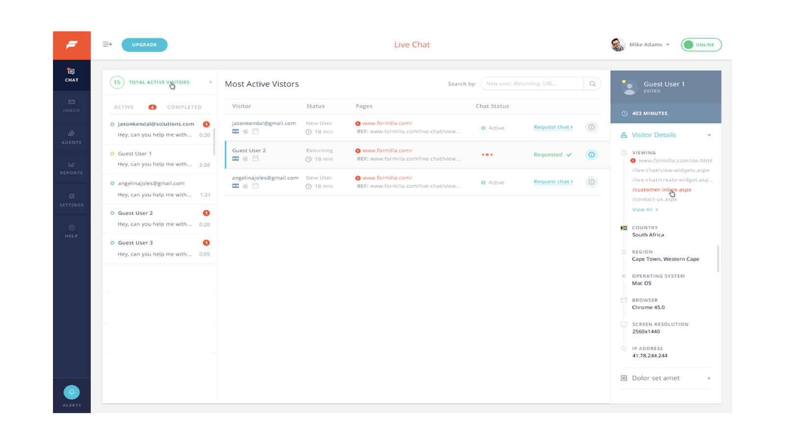 Real-time Visitor Monitoring Dashboard