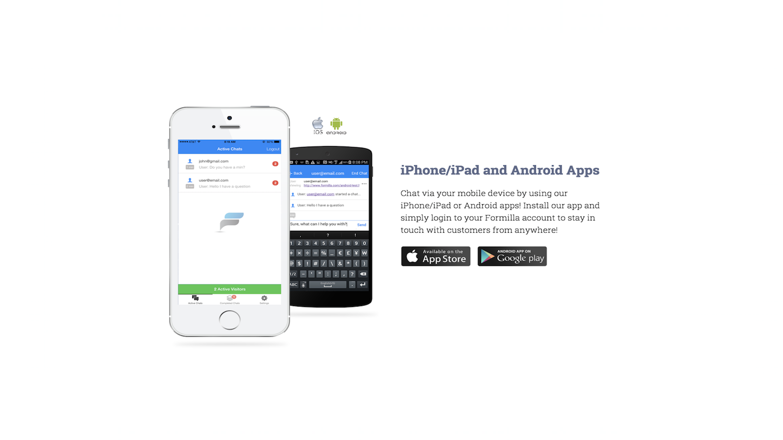 Mobile Apps for iPhone and Android