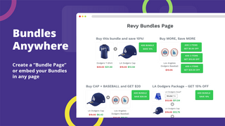 Make every sale more profitable offering bundles with discounts.