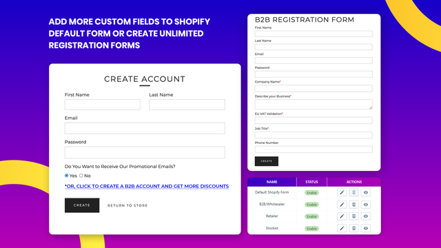 Set up to review and approve customers before creating account