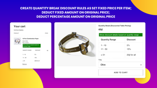 Choose specific products for apply Quantity Breaks, Tier Pricing