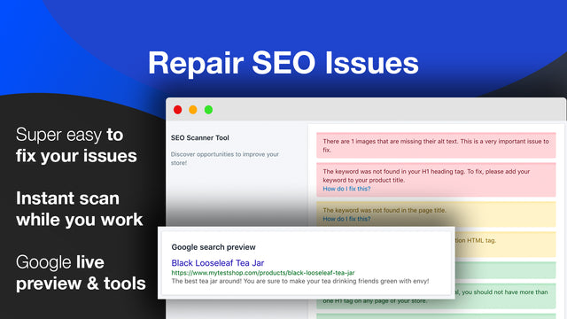 best seo app scanner tool for seo issues json-ld structured data