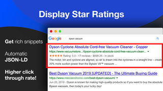 Enable Rich Snippet SEO Search Results optimize product pages