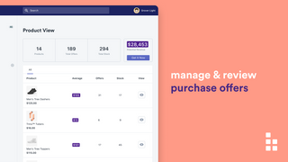 Manage & review products with purchase offers