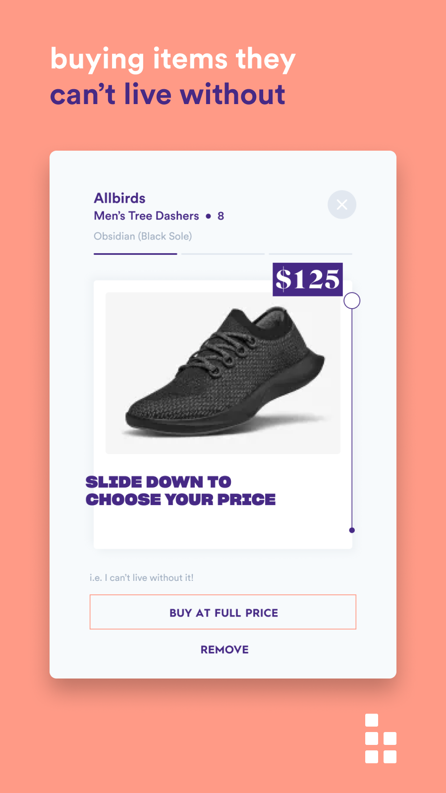 Customers can checkout items they want today at full price