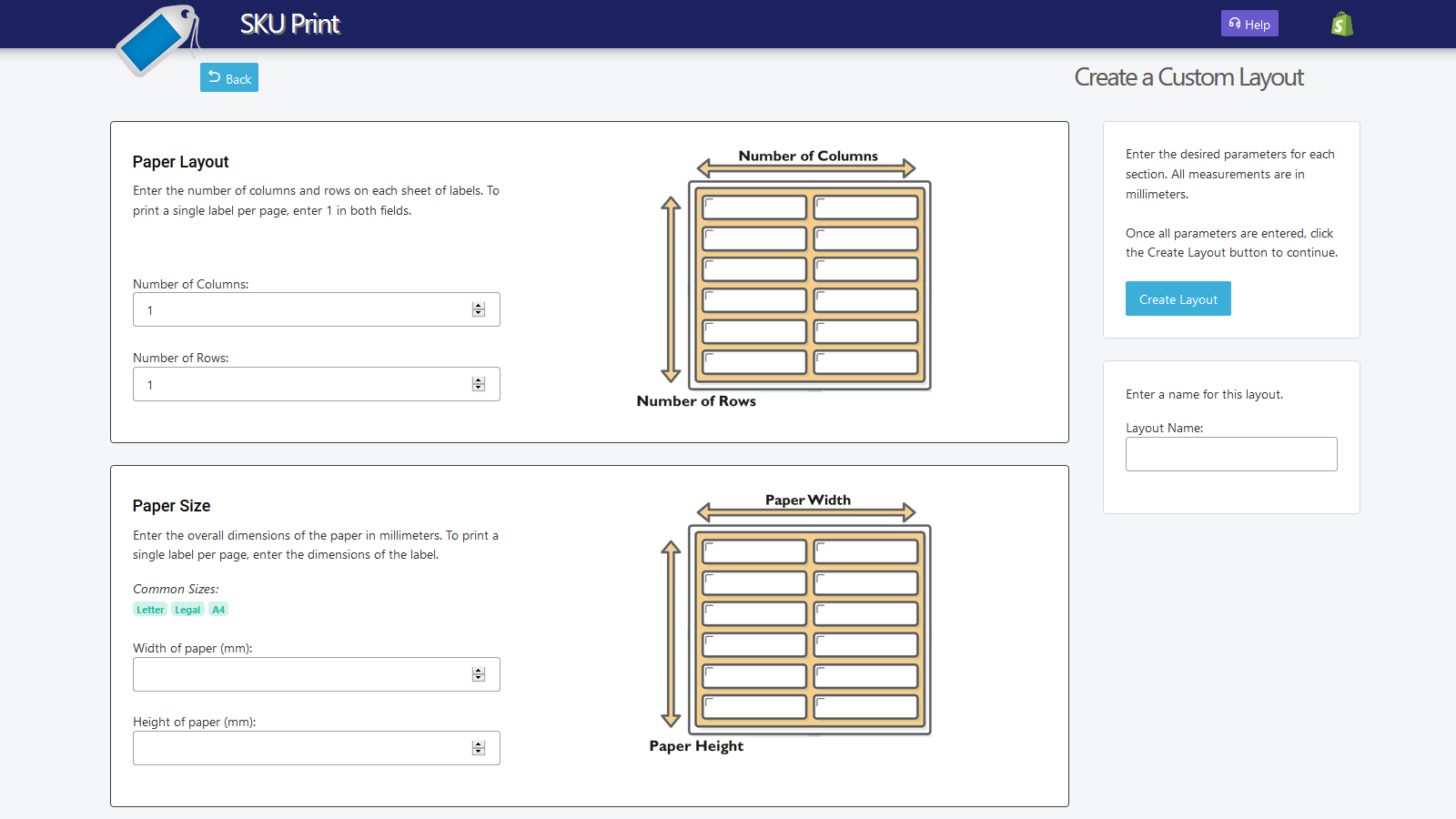 Create a custom layout for any printer.