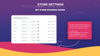 Store Settings - Hours of Operations