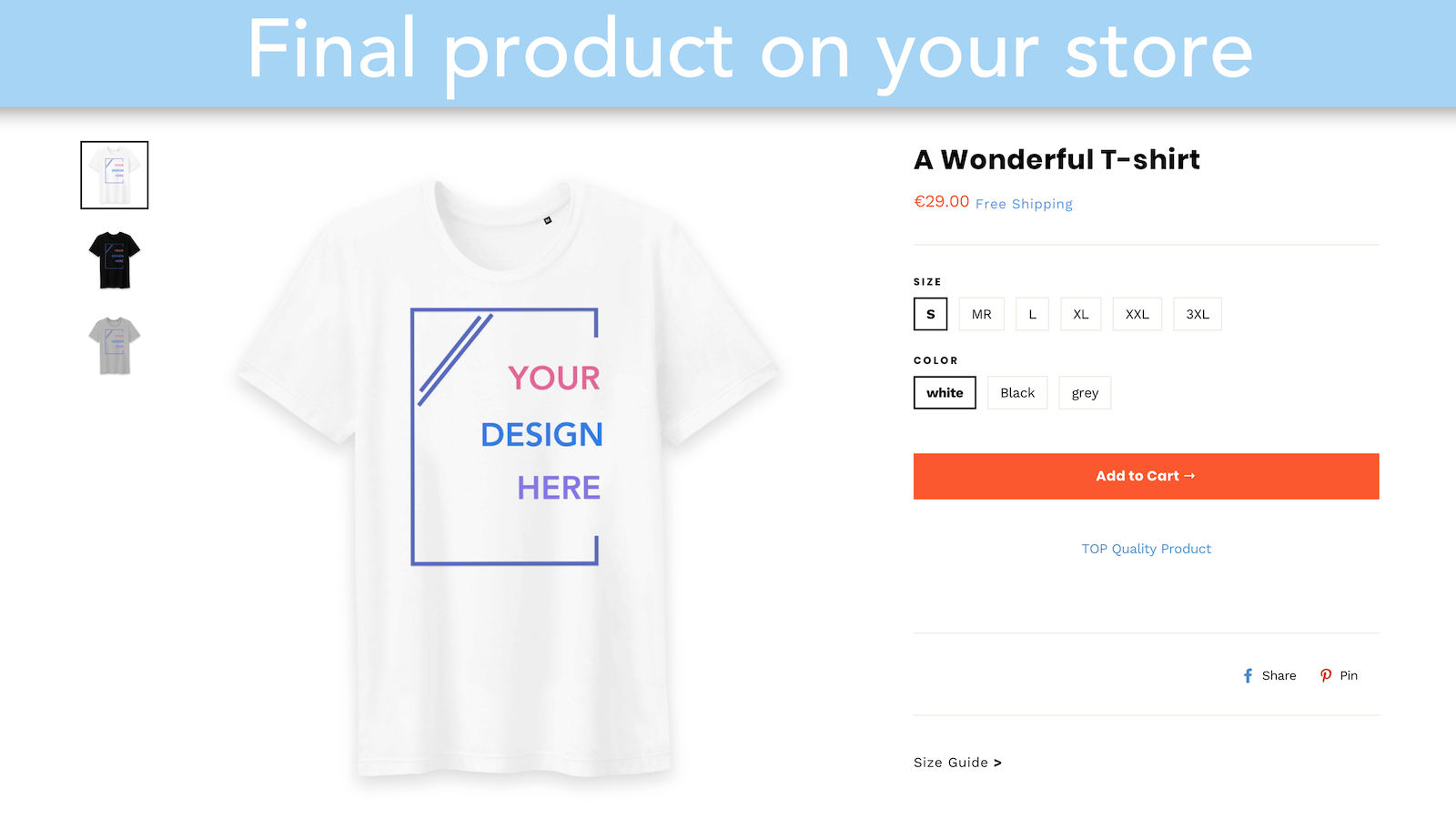 Sustainable finding and print on demand: shop design tool render