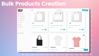 Easy finding of print on demand products (t-shirts) store design