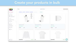 Easy finding of print-on-demand products (t-shirts) store design