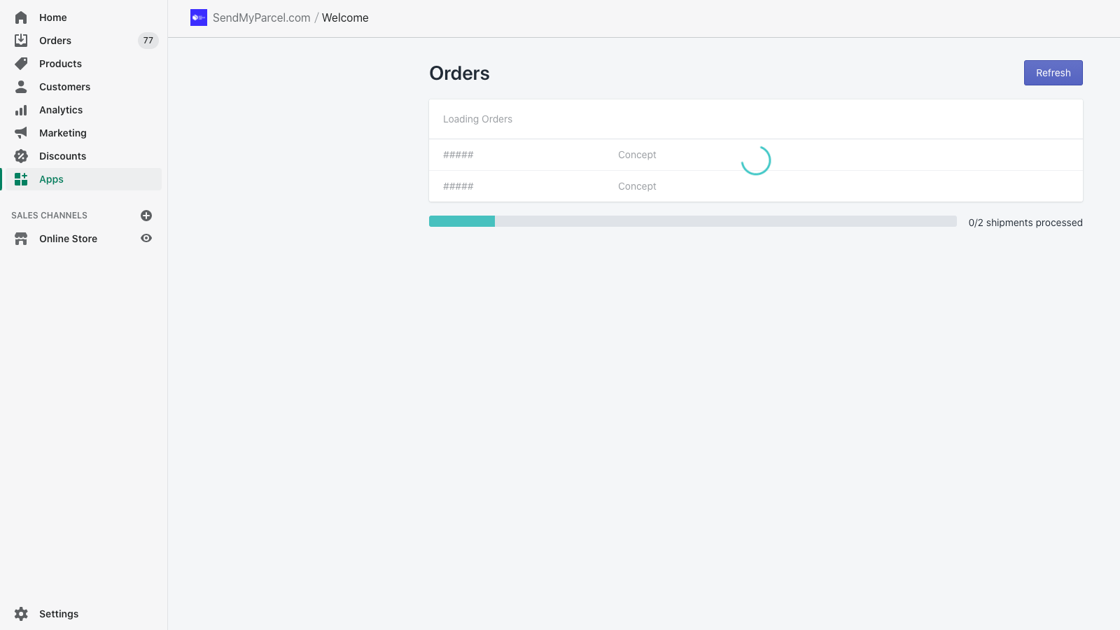 Orders exporting + having carrier & service attached