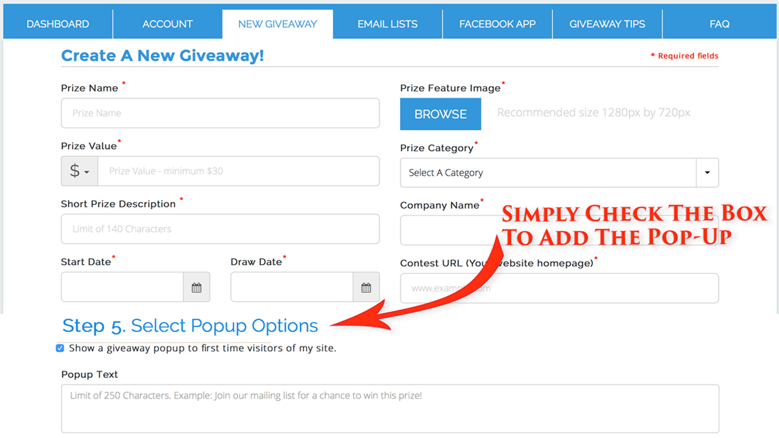 Just a Simple Click to Add a POPUP to Your Site
