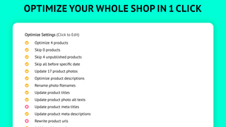 Optimize your store in a single click