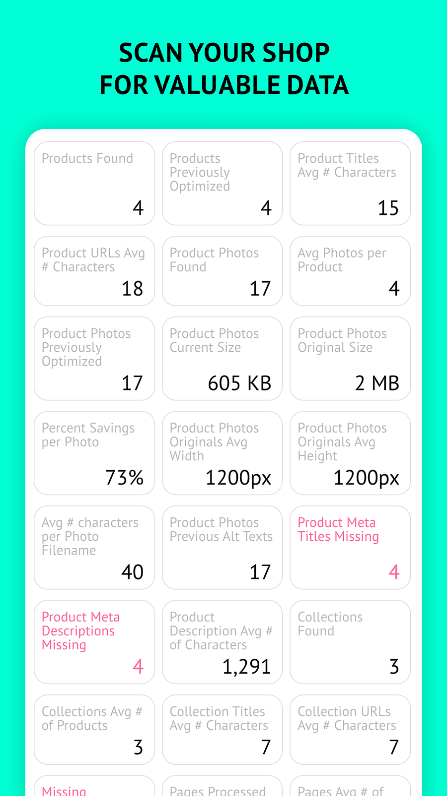 Scan your data for insights