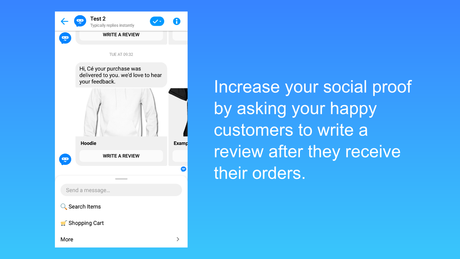 Increase your social proof by getting more products review.