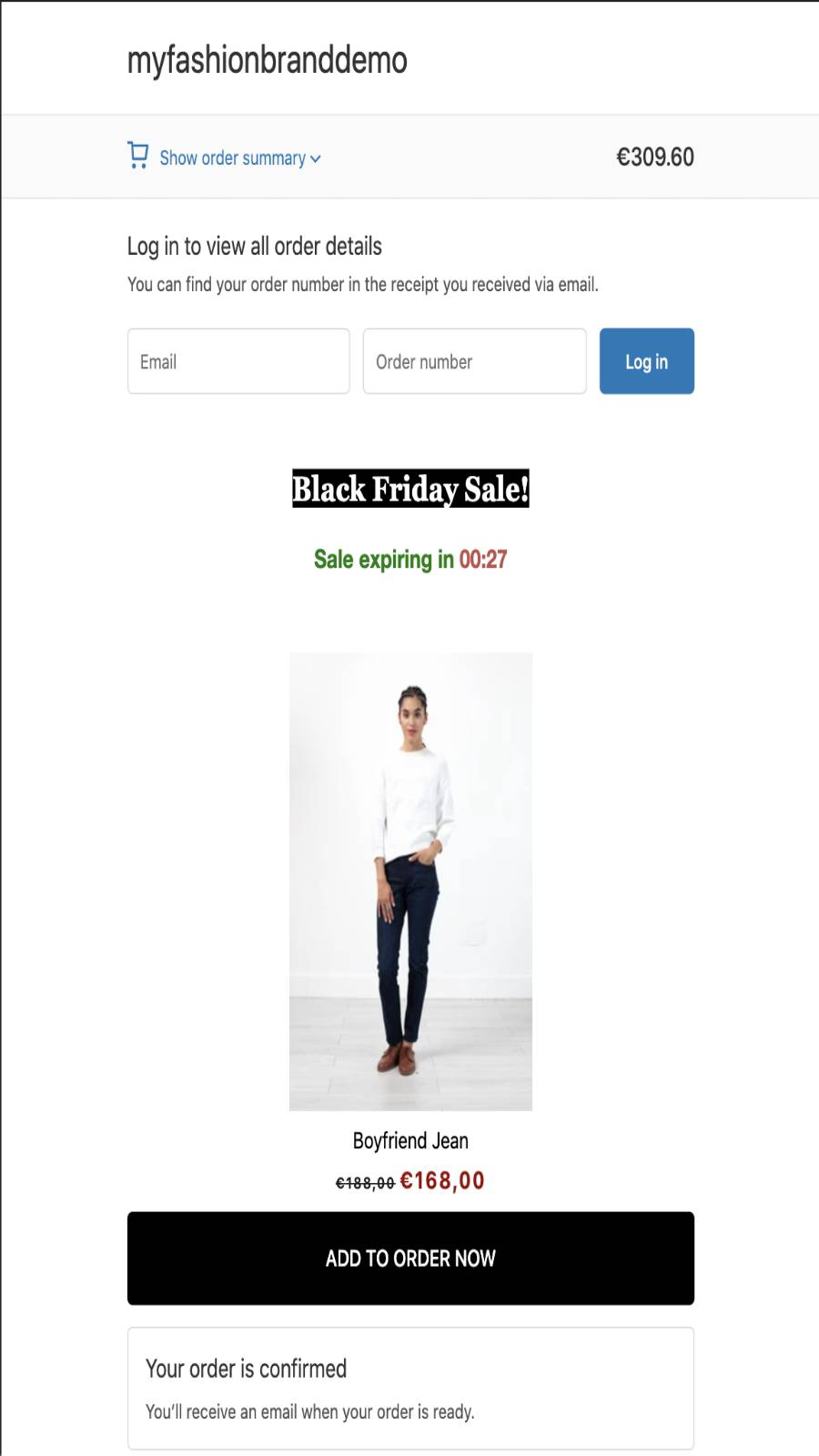 mobile offer edit for checkout upsell