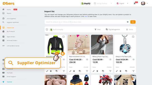 Use the Supplier Optimizer to find better suppliers