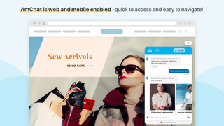 Amchat is web and mobile enabled-quick to access and navigate