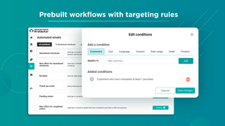 Prebuilt workflows with targeting rules