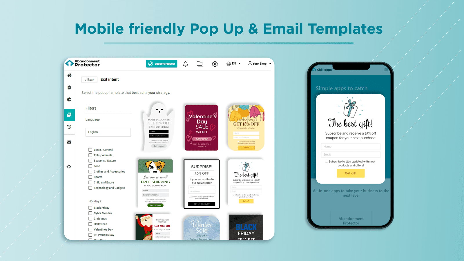 Customizable and mobile-friendly templates