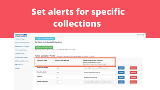 Set alerts for specific collections